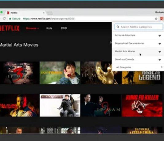 extensión de Chrome te permite filtrar contenido de Netflix